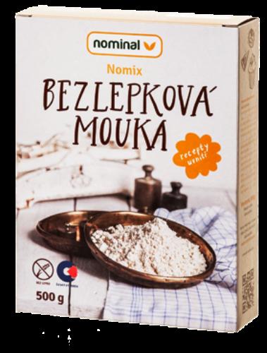 Bezlepková mouka Nomix Nominal pro celiaky, bezlepkové vaření, bezlepkové pečení, bezlepkovou dietu.