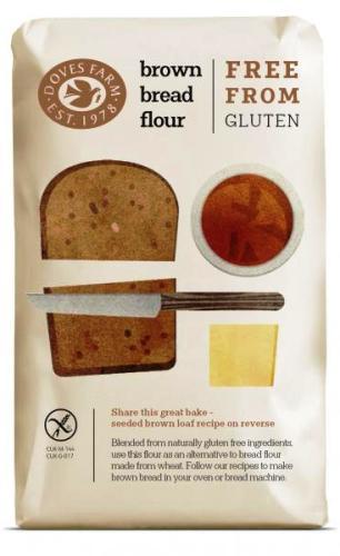 Chlebová směs tmavá bez lepku DOVES FARMje vyrobena z přirozeně bezlepkových surovin.