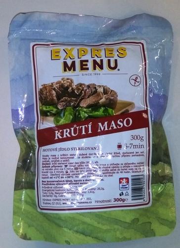 Krůtí maso bez lepku EXPRES MENU 300g - sterilovaný hotový produkt.