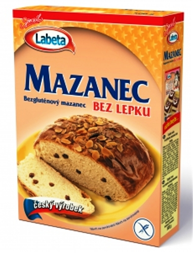 Mazanec bez lepku Labeta pro celiaky, bezlepkové pečení, bezlepkovou dietu.