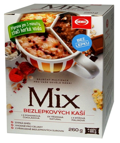 Mix bezlepkových kaší SEMIX 260 g pro bezlepkovou dietu, celiaky.