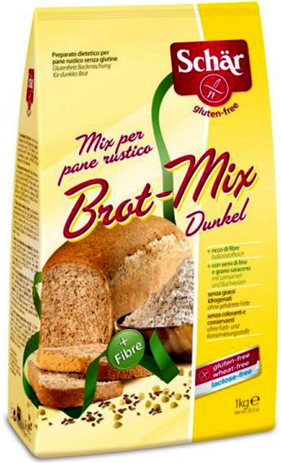 Mouka bezlepková Schär Brot-Mix Dunkel pro bezlepkové pečení, bezlepkovou dietu, celiaky.