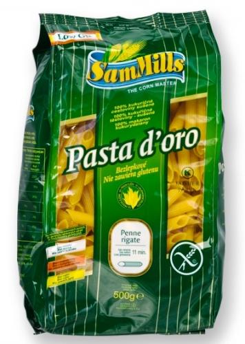 Kukuřičné těstoviny penne SAM MILLS bezlepkové 500 g pro bezlepkovou dietu, celiaky.