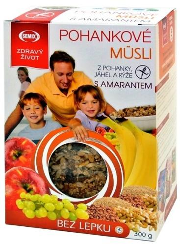 Pohankové müsli s amarantem pro bezlepkovou dietu, celiaky - toto müsli obohatí Váš jídelníček zejména o pohanku, jáhly a rýži.