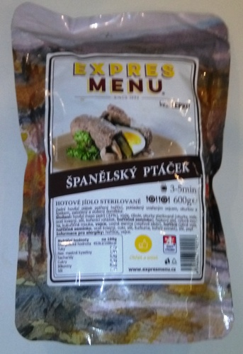 Španělský ptáček EXPRES MENU bez lepku 600 g - sterilované hotové jídlo.