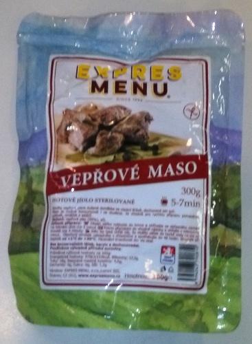 Vepřové maso bez lepku EXPRES MENU 300g - sterilovaný hotový pokrm.