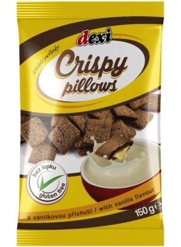 Crispy pillows peřinky s vanilkou bezlepkové pro bezlepkovou dietu, celiaky - výborné, chutné trvanlivé pečivo.