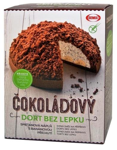 Čokoládový dort bez lepku SEMIX, bezlepková dieta, celiakie.