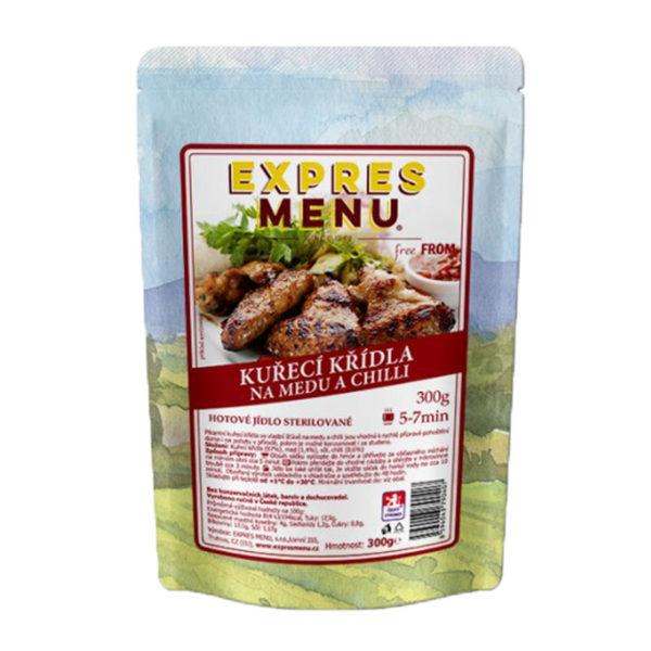 Kuřecí křídla na medu EXPRES MENU bez lepku 300g - sterilovaný pokrm.