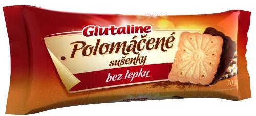 Polomáčené sušenky Glutaline bez lepku 70 g, pro bezlepkovou dietu, celiaky.