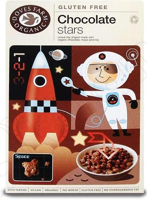 Čokoládové hvězdičky pro bezlepkovou dietu, celiaky, vegany, vegetariány - výborné s jogurtem, mlékem, ovesnou kaší.