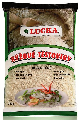 Rýžové těstoviny polévkové hvězdičky Lucka bezlepkové 300 g - výborné jako příloha, hlavní jídlo, do salátů, do polévek.