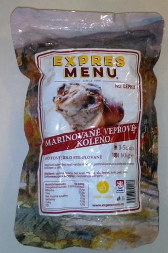 Marinované vepřové koleno EXPRES MENU bez lepku 600 g - sterilovaný pokrm.