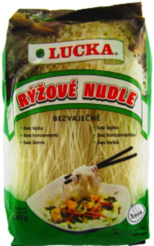 Rýžové nudle Lucka 1 mm bezlepkové - výborné jako příloha, do salátů či polévek.