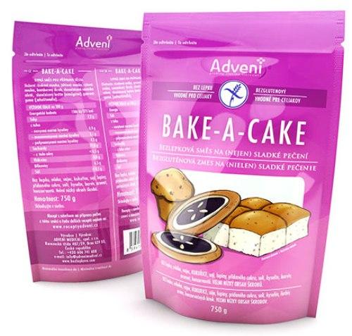 Bezlepková směs na pečení BAKE-A-CAKE 750g ADVENI pro bezlepkovou dietu, celiaky.