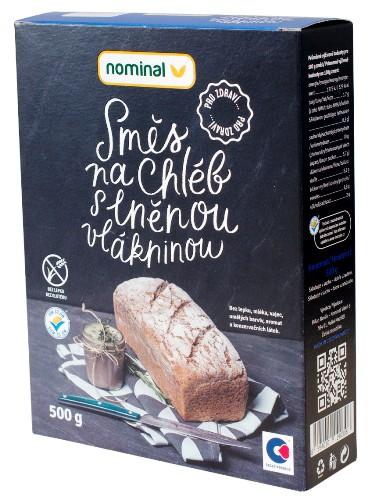 Směs na chléb s lněnou vlákninou pro celiaky, bezlepkové pečení chleba, bezlepkovou dietu.