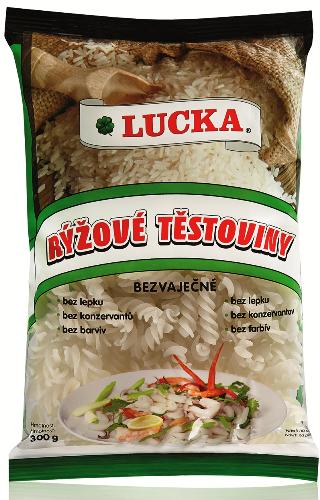 Rýžové těstoviny vřetena Lucka bezlepkové - výborné jako příloha, hlavní jídlo, do salátů, do polévek.