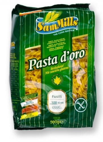 Kukuřičné těstoviny vřetena SAM MILLS bezlepkové 500 g pro bezlepkovou dietu, celiaky.